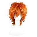 cheap Synthetic Capless Wigs-Synthetic Wig Straight Blonde Synthetic Hair Blonde Wig 13cm(Approx5inch) Capless Orange