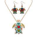 abordables Collares-Mujer Conjunto de joyas - Resina Tortuga, Animal Europeo, Moda Incluir Collar / pendientes Plata / Dorado Para Fiesta / Diario / Casual / Pendientes / Collare