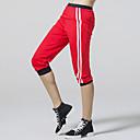 baratos Camisas, Shorts & Calças de Corrida-CONNY Mulheres Calça 3/4 de Corrida - Preto, Vermelho Esportes Calças Ioga, Fitness, Ginásio Roupas Esportivas Respirável, Redutor de Suor