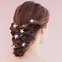 hesapli Parti Başlıkları-İnci Çiçek  -  Başlık / Saç Sticki / Saç Pimi 1pc Düğün / Özel Anlar Başlık
