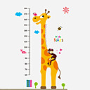 cheap Wall Stickers-Height Stickers - Words & Quotes Wall Stickers Animals / Still Life / Fashion Living Room / Bedroom / Dining Room / Removable