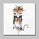 ieftine Picturi în Ulei-Hang-pictate pictură în ulei Pictat manual - Abstract / Animale / Fantezie Modern Cu ramă