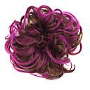 preiswerte Haarteil-Synthetische Perücken / Chignons / Haarknoten Klassisch Stufenhaarschnitt Synthetische Haare Updo Braun Perücke Damen Kurz Lila / Locken