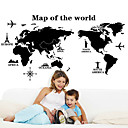 cheap Wall Stickers-Decorative Wall Stickers - Map Wall Stickers Landscape / Still Life / Fashion Living Room / Bedroom / Dining Room / Removable