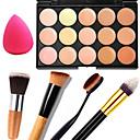 billige Sminke Sæt-Concealer Khaki Concealer / Contour Makeup Body Ansigt Tør Våd Mat Blegende Fugt Dekning # 15 farver Kosmetiske Plejemidler / Glans