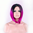 billige Syntetiske parykker-Syntetiske parykker Lige / Kinky Glat Assymetrisk frisure Syntetisk hår Natural Hairline Rød Paryk Dame Kort Lågløs Regnbue