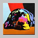 tanie Obrazy: motyw zwierzęcy-Hang-Malowane obraz olejny Ręcznie malowane - Zwierzęta Nowoczesny Z ramą