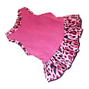 cheap Dog Clothes-Dog Dress Dog Clothes Heart Animal Rose Pink Cotton Costume For Pets
