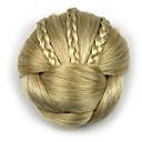 baratos Luvas Notebook-excêntricas encaracolados profissão de ouro do cabelo humano chignons rendas perucas 1003