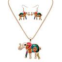 preiswerte Modische Halsketten-Damen Schmuck-Set - Leder Elefant, Tier Europäisch, Modisch Einschließen Halskette / Ohrringe Silber / Golden Für Party / Alltag / Normal / Halsketten