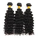abordables Plafonniers-Lot de 3 Cheveux Brésiliens Ondulation profonde 8A Cheveux Naturel humain Tissages de cheveux humains Tissages de cheveux humains Extensions de cheveux Naturel humains