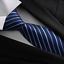 זול אביזרים לגברים-עניבת צווארון פוליאסטר מסיבה / עבודה / בסיסי בגדי ריקוד גברים / כחול