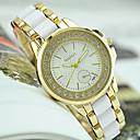 baratos Relógios da Moda-Mulheres Relógio de Pulso imitação de diamante Aço Inoxidável Banda Amuleto / Fashion / Relógio simulado de diamantes Preta / Branco / Um ano / Tianqiu 377