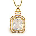 hesapli Moda Yüzükler-Kadın's Kristal Uçlu Kolyeler - Altın Kolyeler Uyumluluk