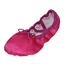 cheap Ballet Shoes-Ballet Shoes Silk Flat Flat Heel Non Customizable Dance Shoes Fuchsia / Green / Blue / Indoor