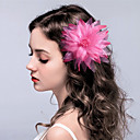 cheap Party Headpieces-Fabric Flowers Headwear Hair Clip with Floral 1pc Wedding Special Occasion Headpiece