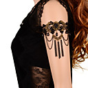 cheap Body Jewelry-Body Chain / Armlet Cuff  bands - Lace Flower Ladies, Gothic Women's Black Body Jewelry For Daily / Casual