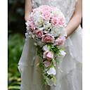"""baratos Bouquets de Noiva-Bouquets de Noiva Buquês Casamento Festa / Noite Seda Organza Cetim 12.6""""(Aprox.32cm)"""