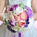 """זול מזכרות מחזיקי מפתחות-פרחי חתונה זרים חתונה שזירה תחרה משי אורגנזה מֶשִׁי 9.84""""(לערך.25ס""""מ)"""