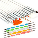 billige Neglebørster-20pcs Nail Art Files & Buffers Nail Art Tool Moderigtigt Design Negle kunst Manicure Pedicure Træ / Plast / Nylon Chic & Moderne / Metal