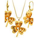 preiswerte Schmuckset-Damen Schmuck-Set - vergoldet Blume Modisch Einschließen Halskette / Ohrringe Für Hochzeit / Party / Halsketten
