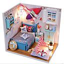 זול בתי בובות-Hoomeda בית בובות / משחקי דמויות / ערכות לבניית מודלים מודרני, חדשני / עשה זאת בעצמך בניין מפורסם / בית טֶקסטִיל / עץ / פלסטי רומנטי 1 pcs