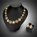 cheap Jewelry Sets-Women's Jewelry Set - Fashion Include Necklace / Earrings Golden For Wedding / Party
