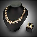 baratos Anéis-Mulheres Conjunto de jóias - Fashion Incluir Colar / Brincos Dourado Para Casamento Festa / Colares