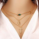cheap Necklaces-Women's Layered Pendant Necklace / Chain Necklace - Pearl Fashion Golden Necklace For Party, Daily, Casual