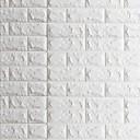 abordables Decoraciones de Navidad-3D Decoración hogareña Moderno Revestimiento de pared, PVC/Vinilo Material Auto Adhesivos papel pintado, Revestimiento de paredes de