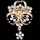 cheap Brooches-Women's Brooches - Imitation Diamond Flower Luxury, Fashion Brooch Golden For Wedding / Party / Special Occasion