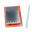 זול תצוגות-2.4 אינץ 'TFT LCD מסך מגע מגן עם עט מגע עבור uno Arduino