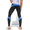 cheap Running Shirts, Pants & Shorts-Men's Patchwork Running Tights - Red, Blue, Yellow / Black Sports Tights / Leggings Fitness, Gym, Workout Activewear Quick Dry, High Breathability (>15,001g), Breathable