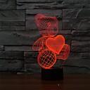 preiswerte Nachtleuchten-1 Stück 3D Nachtlicht USB Abblendbar 5 V