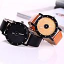 preiswerte Armband-Uhren-Damen Armbanduhr Quartz Armbanduhren für den Alltag Cool Leder Band Analog Glanz Modisch Schwarz / Weiß / Blau - Schwarz Rose Blau