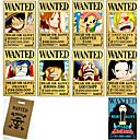 preiswerte Anime Cosplay Zubehör-Mehre Accessoires Inspiriert von One Piece Monkey D. Luffy Anime Cosplay Accessoires Karte Papier Herrn / Damen neu / heiß Halloween Kostüme
