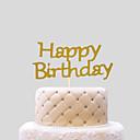 abordables Decoraciones de Pastel-Decoración de Pasteles Tema Playa Tema Clásico Corazones Papel de tarjeta Cumpleaños con Pajarita 1 OPP