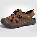 baratos Sandálias Masculinas-Homens sapatos Pele Verão Sandálias para Casual Marron Khaki