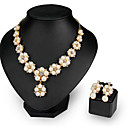 cheap Wall Stickers-Women's Pearl Jewelry Set - Flower Fashion Include Necklace / Earrings White For Wedding / Party