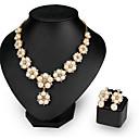 preiswerte Modische Ohrringe-Damen Perle Schmuck-Set - Blume Modisch Einschließen Halskette / Ohrringe Weiß Für Hochzeit / Party / Halsketten