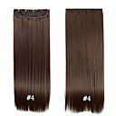 abordables Regalos de Boda-Recto Clips Pelo sintético 22 pulgadas La extensión del pelo Con Clip Clip Mujer Diario