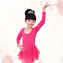 cheap Shoes Accessories-Ballet Dresses Training Cotton / Chiffon Ruched Long Sleeve Natural Dress