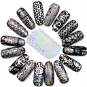 お買い得  偽の釘-1 pcs 輝き / 花型 / クラシック ネイルジュエリー / ネイル・フルチップ ネイルアートデザイン かわいい 日常 / カトゥーン / キラキラと輝き