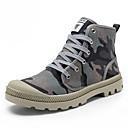 halpa Miesten saappaat-Miesten kengät Canvas Bootsit Vaellus Solmittavat varten Urheilullinen Kausaliteetti ulko- Harmaa Vihreä
