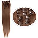 tanie Doczepy syntetyczne-Włosy syntetyczne Przedłużanie włosów Prosto Klasyczny Clip In Codzienny Wysoka jakość