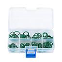 preiswerte Autositzbezüge-105 Stück 8 Größe HNBR Klimaanlage O-Ringe Dichtungsringe grün für Auto Dicht