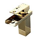 abordables Grifos de Lavabo-Baño grifo del fregadero - Cascada Ti-PVD Conjunto Central 1 Orificio / Sola manija Un agujero