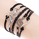 cheap Bracelets-Men's Women's Wrap Bracelet Loom Bracelet Love Anchor Bohemian Double-layer Bracelet Jewelry Black For Daily Casual
