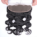 cheap Closure & Frontal-100% Hand Tied Body Wave Free Part Swiss Lace Human Hair