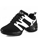 preiswerte Netze & Halter-Damen Schuhe für modern Dance Kunststoff Sneaker Schnürsenkel Niedriger Heel Keine Maßfertigung möglich Tanzschuhe Schwarz / Rot